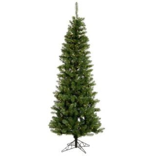 7.5 Pre Lit LED Salem Pine Pencil Artificial Christmas Tree   Clear Lights Christmas Decor