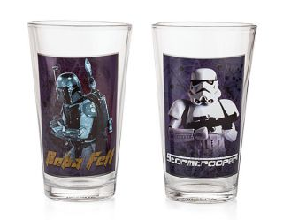 Star Wars Set of Four 16oz Pint Glass Set
