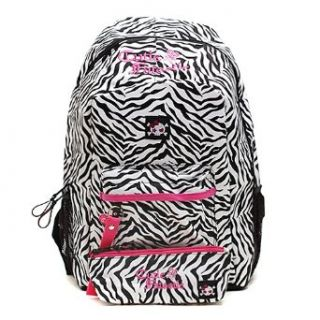Cutie Patootie Girls Black Pink Zebra Print Backpack Childrens School Backpacks Clothing