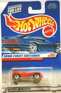 Mattel Hot Wheels 1998 First Editions 164 Scale Red Cat A Pult Die Cast Car #631 Toys & Games
