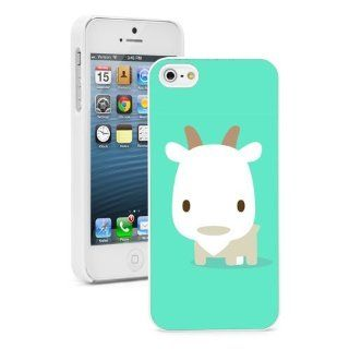 Apple iPhone 4 4S 4G White 4W625 Hard Back Case Cover Color Cute Cartoon Baby Goat on Mint Green Cell Phones & Accessories