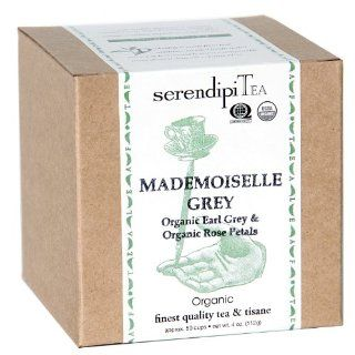 SerendipiTea Mademoiselle Grey, Organic Earl Grey & Rose Petal Tea, 4 Ounce Boxes (Pack of 2)  Black Teas  Grocery & Gourmet Food