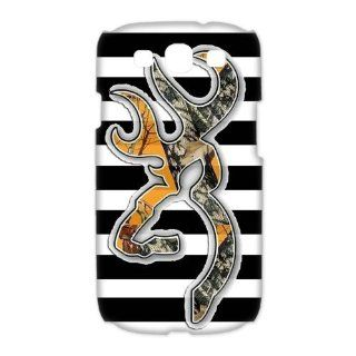 Custom Browning 3D Cover Case for Samsung Galaxy S3 III i9300 LSM 643 Cell Phones & Accessories