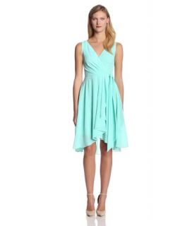 Maggy London Women's Crepe Chiffon Wrap Dress