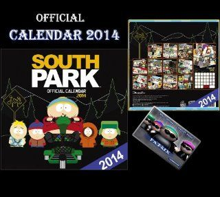 SOUTH PARK OFFICIAL CALENDAR 2014 + SOUTH PARK FRIDGE MAGNET   Wall Calendars