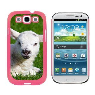 White Baby Lamb   Snap On Hard Protective Case for Samsung Galaxy S3   Pink Cell Phones & Accessories