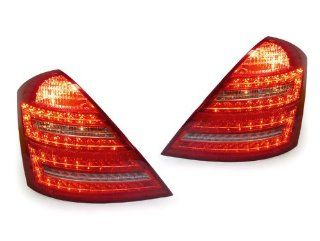 07 09 MERCEDES BENZ W221 S CLASS RED / CLEAR LED TAIL LIGHTS   FACELIFT LOOK   S550 S600 Automotive