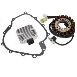 STATOR & REGULATOR RECTIFIER YAMAHA GRIZZLY 660 YFM660 2002 2008 with GASKET ATV Automotive
