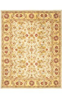 Shop Safavieh Classics Collection CL324A Handmade Ivory and Light Gold Wool Area Rug, 9 Feet 6 Inch by 13 Feet 6 Inch at the  Home D�cor Store