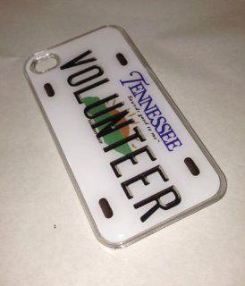 Volunteer Tennessee State License Plate iPhone 4 4S CLEAR TN Memphis Nashville Cell Phones & Accessories