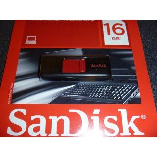 Sandisk 16GB Cruzer USB Flash Drive   New Design Computers & Accessories