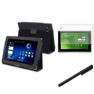 eForCity Compatible with Acer Iconia Tab A500 Black Stand Leather Case Cover Pouch +Screen Protector Guard+Stylus Computers & Accessories