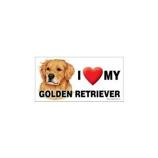 I Love my Golden Retriever Dog 8''x4'' Magnet Kitchen & Dining