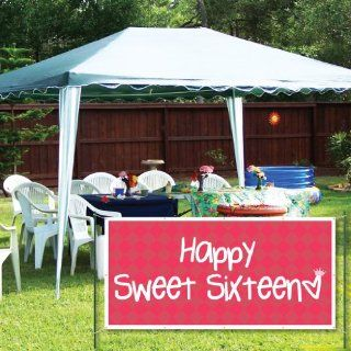 Happy Sweet Sixteen 16th Birthday 2'x4' Vinyl Banner  Business And Store Signs