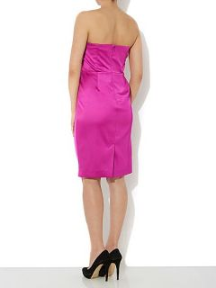 Untold Satin bow front dress Magenta