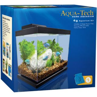 Aqua Tech 4 Gallon Home Aquarium Kit Fish
