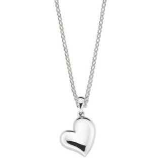 She Sterling Silver Heart Pendant Necklace Silver
