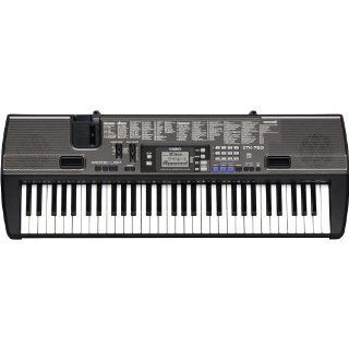 Casio 61 Key Portable Keyboard w/ Stand   Black   CTK 720/STADV Musical Instruments