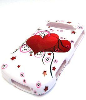 Samsung R720 Admire Vitality White Heart Balloon Case Skin Cover SCH R720 Cell Phones & Accessories