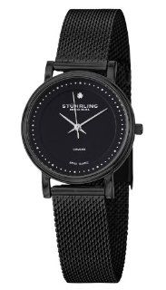 Stuhrling Original Women's 734LM.03 Classic Ascot Casatorra Elite Swiss Quartz Genuine Diamond Black Mesh Bracelet Watch Watches
