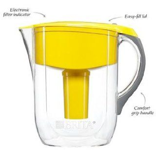 Brita Grand Water Filter Pitcher, Yellow, 10 Cup Kitchen & Dining
