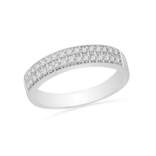 CT. T.W. Diamond Double Row Wedding Band in 10K White Gold   Zales