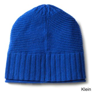 Ply Cashmere Ply Cashmere Ribbed Hat Blue Size One Size Fits Most