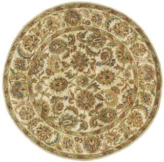 Safavieh Classics Collection CL758A Handmade Ivory Wool Round Area Rug, 5 Feet