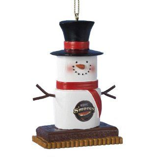 Kurt Adler Hershey Marshmallow Snowman Christmas Ornament   Decorative Hanging Ornaments