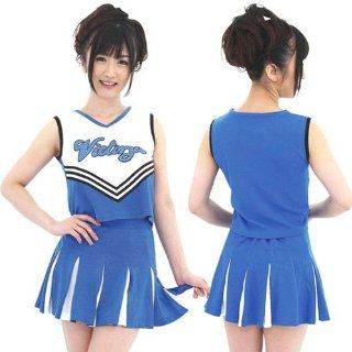 Rulercosplay Blue Cute Cheerleading Uniform Cosplay Costume   Blue Toys & Games