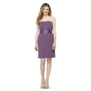 TEVOLIO Womens Lace Strapless Dress   Plum Spice   2