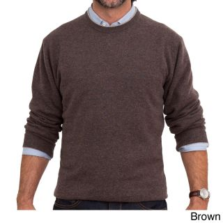Luigi Baldo Luigi Baldo Italian Made Mens Cashmere Crew Neck Sweater Brown Size Small
