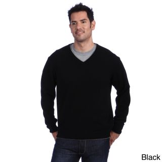 Luigi Baldo Luigi Baldo Italian Made Mens Cashmere V neck Sweater Black Size 2XL