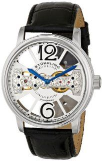 Stuhrling Original Men's 785.01 Classic Analog Display Mechanical Hand Wind Black Watch Watches