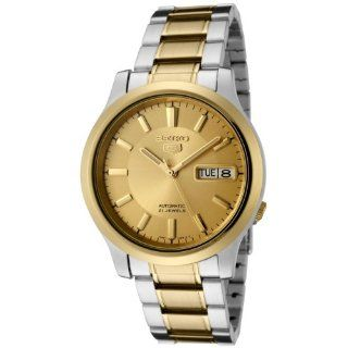 Seiko Men's SNK792 Seiko 5 Automatic Gold Dial Two Tone Stainless Steel Watch Seiko Watches