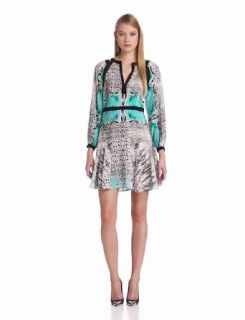 Twelfth Street by Cynthia Vincent Women's Long Sleeve Flounce Mini Dress