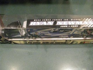 Limited Edition Only 10000 Made.June 1, 2003 MBNA Armed Forces 400 Winner Commemorative Hauler Ryan Newman Alltel #12 Hauler Trailer Transporter Rig Semi Tractor Truck Hotwheels Hot Wheels 1/64 Scale Metal Cab/Tractor, Plastic Trailer Toys & Games