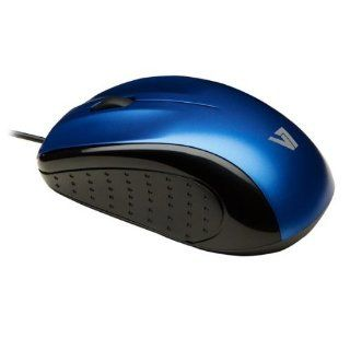 V7 (MV3010010 BLU 5NB) Blue Mid Size USB Optical LED Ambidextrous Mouse Computers & Accessories