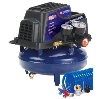 Campbell Hausfeld FP2028 1 Gallon Oil Free Pancake Air Compressor with Accessory Kit   Pancake Tank Air Compressors