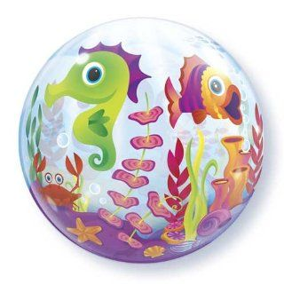"Single Source Party Supplies   22"" Fun Sea Creatures Bubble Balloon Toys & Games"