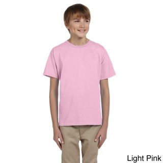 Gildan Gildan Youth Ultra Cotton 6 ounce T shirt Pink Size L (14 16)