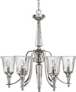 Hinkley Lighting H4696 Contemporary / Modern Six Light Chandelier from the Chandon Collection, Sterling