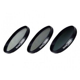 Vivitar 77mm 3 Piece Fundamental Filter Kit UV + CPL + ND8  Camera Lens Filter Sets  Camera & Photo