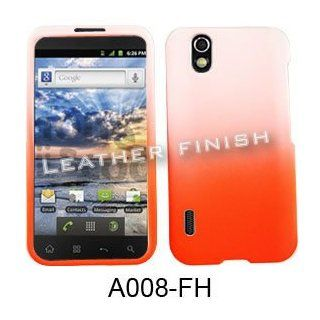 ACCESSORY HARD RUBBERIZED CASE COVER FOR LG MARQUEE / IGNITE LS 855 TWO TONES WHITE ORANGE Cell Phones & Accessories