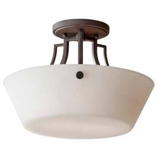 Weston 2 light Colonial Iron Semi flush Mount