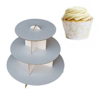 Dress My Cupcake DMC30767 Cardboard Cupcake Stand Kit with Standard Wrappers, Ivory Filigree Party Packs Kitchen & Dining