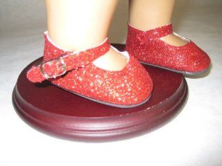 Red Sparkle Shoes for American Girl Dolls and Most 18 Inch Dolls Toys & Games