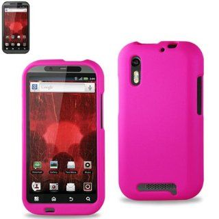 Reiko RKRPC10 MOTXT865HPK Premium Durable Protective Case for Motorola Droid Bionic XT865   1 Pack   Retail Packaging   Hot Pink Cell Phones & Accessories