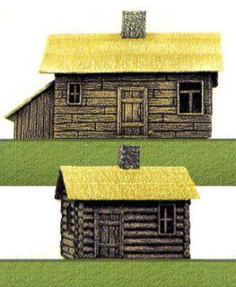 Pegasus Hobbies 1/144 Russian Farm Houses (2) PGH850 Toys & Games