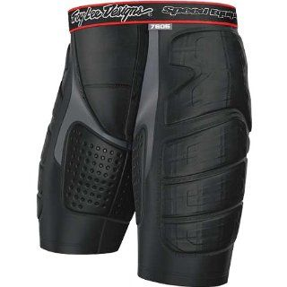 Troy Lee Designs BP 7605 Shorts Adult Undergarment MX/Off Road/Dirt Bike Motorcycle Body Armor   Black / Small Automotive